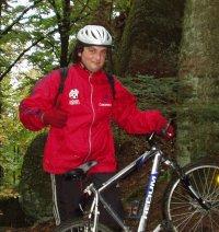 Kami auf einer Fahrradtour