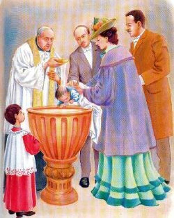 Die Taufe des kleinen Josefmaria