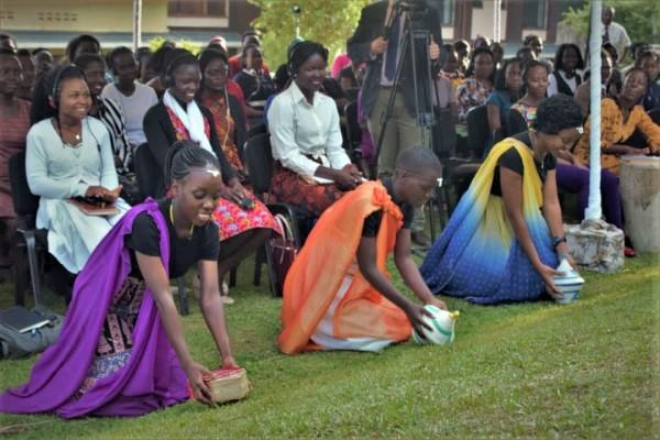 The Father's meeting young ladies in Entebbe