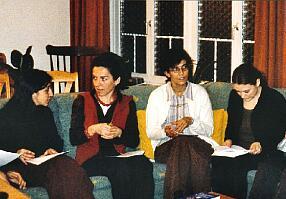 Schnappschuss aus dem 'Knigge-Seminar' im Haus Goldbrunnen