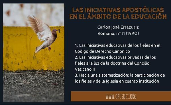 Las iniciativas apostólicas de los fieles en el ámbito de la educación