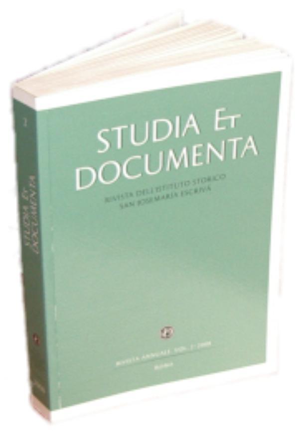 "Segundo número de ""Studia et Documenta"""