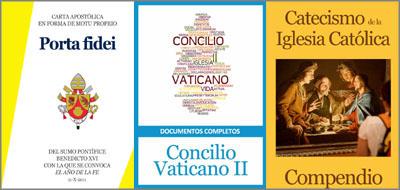 Están disponibles en formato electrónico la Carta Apostólica Porta Fidei, los documentos del Concilio Vaticano II y el Compendio del Catecismo de la Iglesia Católica.