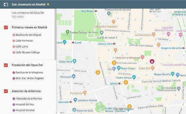 Opus Dei - Un mapa interactivo sobre los primeros años del Opus Dei