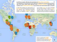 Mapa de iniciativas sociales promovidas por don Álvaro.