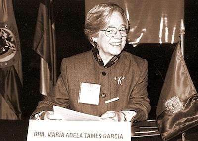 María Adela Tamés, quien dedicó muchos años a la Universidad de La Sabana.