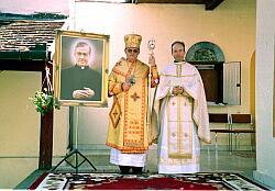 Bischof Keresztes mit Dr. Martin Schlag, Regionalvikar des Opus Dei in Österreich.