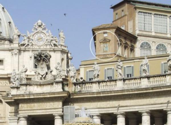 A história do mosaico de Maria, Mater Ecclesiae na praça de S. Pedro