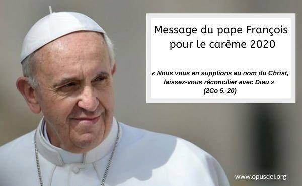 Message du Pape François pour le Carême 2020
