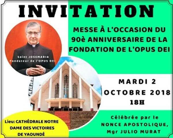 2-octobre: Messe solennelle pour le 90ème anniversaire de l'Opus Dei