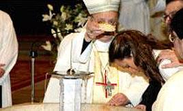 El día del bautizo.