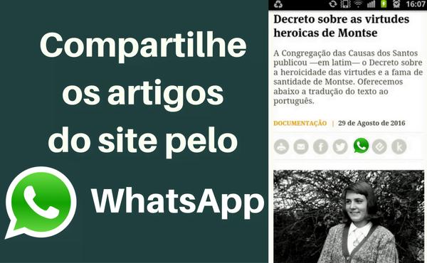 Compartilhar notícias por WhatsApp