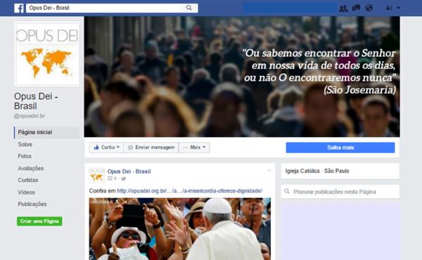 Nova página do Opus Dei no facebook e twitter