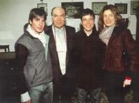 Leonardo Mondadori ze swoimi dziećmi