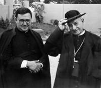 Mons. Leopoldo Eijo și Garay cu Sfântul Josemaría