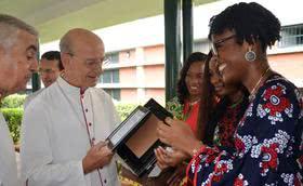 """Il prelato in Nigeria: """"Mettiamo Cristo al centro della nostra vita""""."""