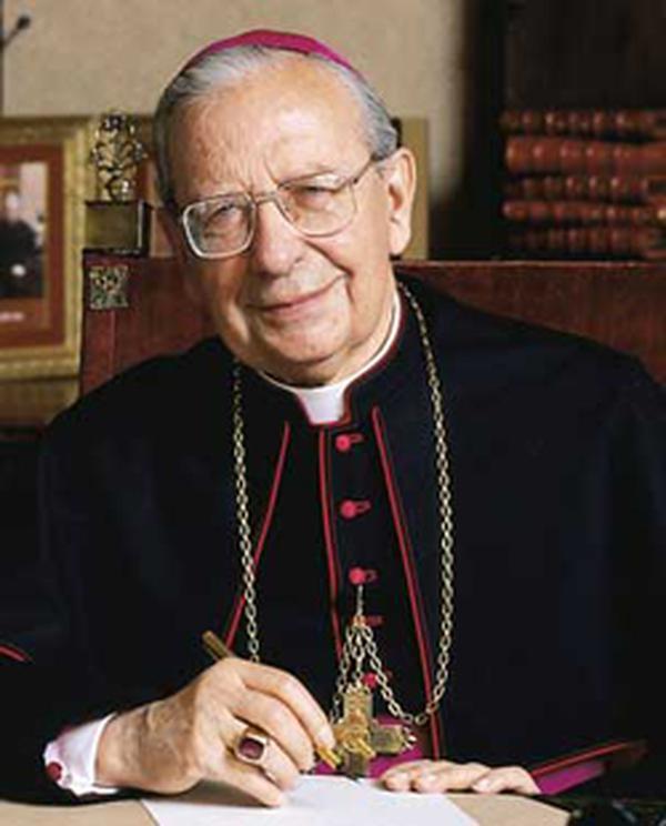 Mons. Javier Echevarría, Prelato dell'Opus Dei, nella messa in suffragio per mons. Álvaro del Portillo