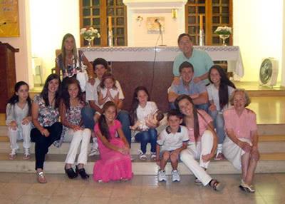 Nacho con su familia