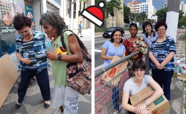 Opus Dei - Levar o encanto do Natal aos moradores de rua