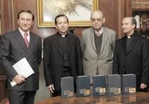 los profesores Guido Stein, Juan Chapa, Antonio Fontán y Francisco Varo.