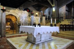 Cripta de la basílica de l'Anunciació. Foto: Léobard Hinfelaar.