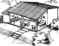 Croquis de las casas que se construirán