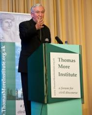 Archbishop Vincent Nichols of Westminster gives lecture at Netherhall House