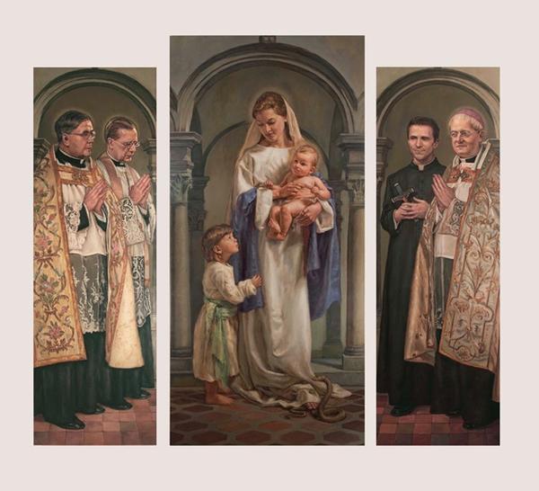 Dall'idea di un fedele un trittico in una chiesa di Livorno