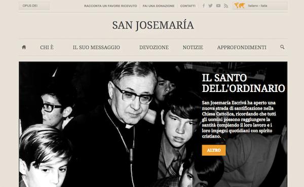 Opus Dei - Una pagina web per san Josemaría
