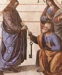 Las ciudades antiguas estaban rodeadas de murallas. Y entregar las llaves que daban acceso a las murallas equivalía a dar poder sobre la ciudad. La expresión dar las llaves equivale a darle el poder supremo sobre su Iglesia, a la que muchas veces llama 'reino de los cielos'.