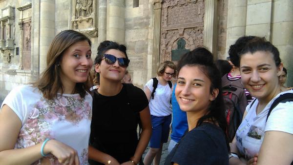 Bénédicte, Marion, Justine et Maria