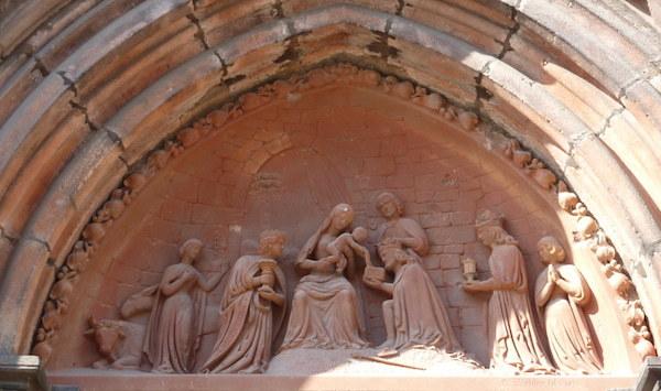 Portail de l'église Saint Georges - tympan