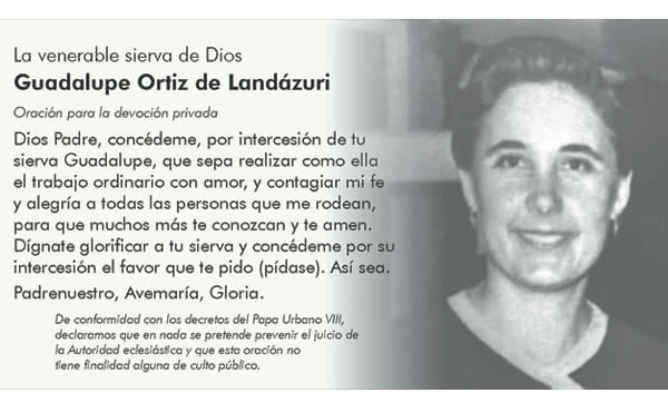 Rezar por intercesión de Guadalupe Ortiz de Landázuri
