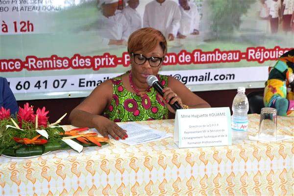 Intervention de Mme Huguette Kouamé, Directrice de la Promotion de la Formation Privée
