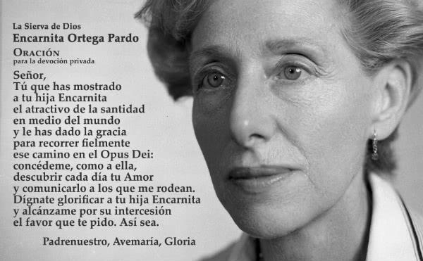 Oración para rezar por intercesión de Encarnita Ortega.