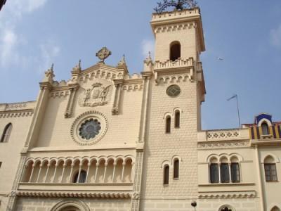 Façana de l'església dels Pares Mínims, en l'actualitat.
