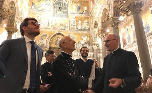 O prelado do Opus Dei visitou a catedral de Monreal (Sicília).