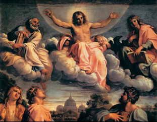 Annibal Carrache, Le Christ en gloire (Florence, 1583)