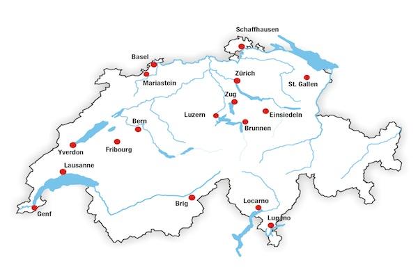 Die Orte, die der hl. Josefmaria in der Schweiz besuchte