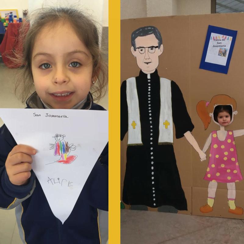 Alumnas del Colegio Trigales celebraron por primera vez la fiesta del santo que inspiró los colegios de la Fundación Nocedal.