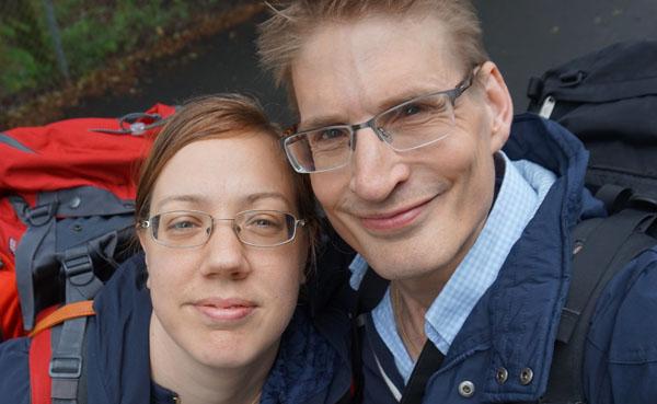 Sarah con Thomas, su marido.