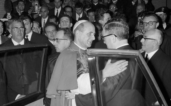 São Josemaria com Paulo VI no Centro ELIS