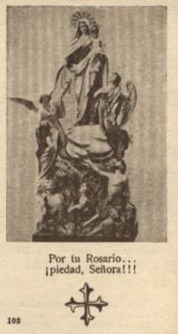 Minneskortet till den helige Josemarías första mässa.