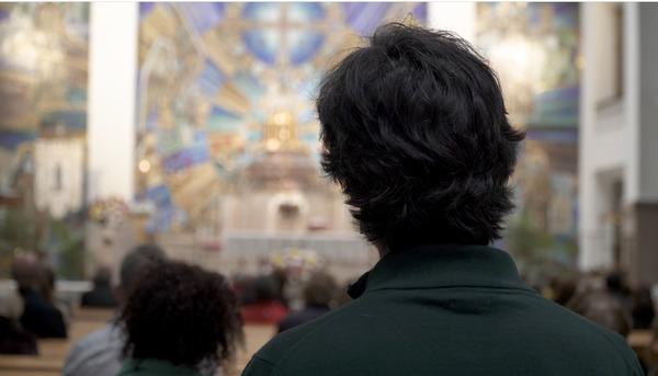 Álvaro en la iglesia de Jesús de Medinaceli (Madrid)