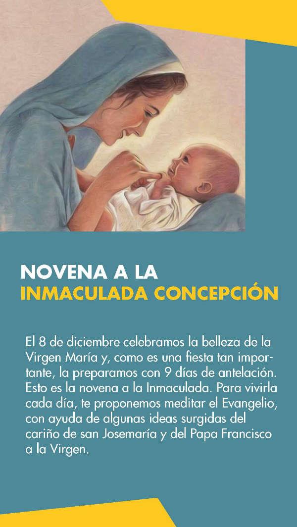 Novena a la Inmaculada con textos de san Josemaría y el Papa Francisco.
