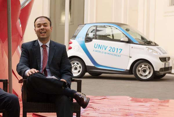 Alain Kiwan, presidente dell'UNIV, nell'edizione del 2017.