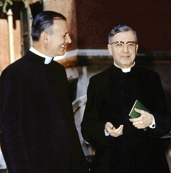 With Saint Josemaria towards the end of his life.