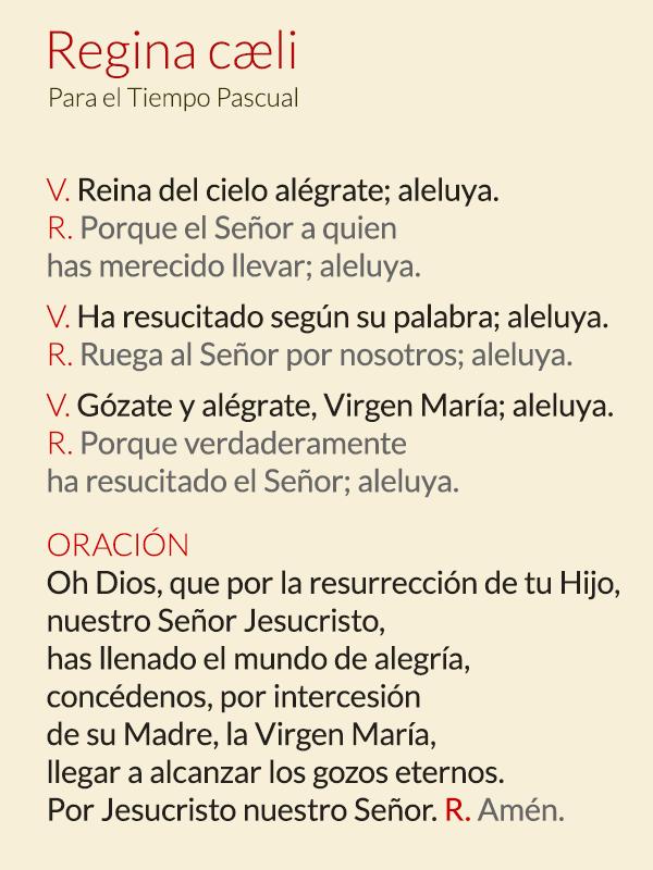 Rezar El Regina Coeli Opus Dei