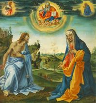 Filippino Lippi, Apparition du Christ à Marie (1493, Musée de Peinture Ancienne, Munich)