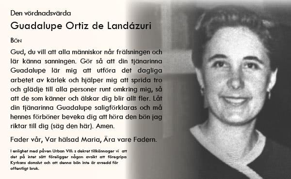 Be Guadalupe Ortiz de Landázuri om forbønn.